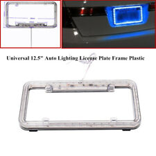 54-LED Blue Light Car Truck Front Rear Auto Lighting License Plate Frame Plastic