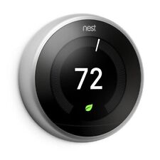 New in Box Nest 3rd Generation Learning Stainless Steel Programmable Thermostat