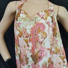 Dress Barn 22W Plus Dress Sheer Sleeveless wide strap Neckline Floral flowy