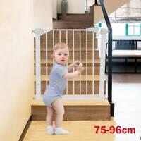 Baby Pet Gate Toddler Dog Stair Way Safety Lock Walk Thru Door Extra Wide Tall