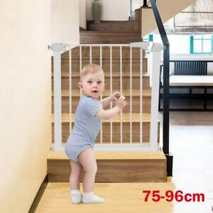 Baby Pet Gate Toddler Dog Stair Way Safety Lock Walk Thru Door Extra Wide Tall