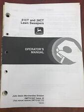 John Deere Operators Manual 31Ct & 38Ct Lawn Sweepers #Omty21627 Used