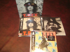 T.REX SLIDER TANK & HITS BOX SET WITH 3 REPLICA'S JAPAN OBI CD'S SPECIAL PRICE