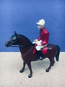 1950's Hartland TURF KING & JOCKEY - Horse & Rider with saddle - Original