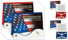 2019 P D UNITED STATES MINT UNCIRCULATED COIN SET NO PENNY- 20 COINS