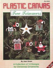 Tree Trimmers Christmas Ornaments Plastic Canvas Patterns Plaid #8649 NEW