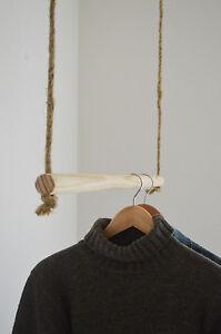Handmade, Natural Wood, Hanging Rail