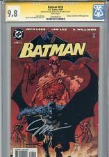 Batman 618 CGC 9.8 SS X3 Jim Lee Loeb Sinclair Hush Catwoman Jason Todd 608 612