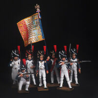 Tin soldier, Set of Grenadiers of the Old Guard France (7 miniatures) 54 mm