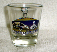 Baltimore Ravens SUPER BOWL 47 XLVII Champions Champs SHOT GLASS