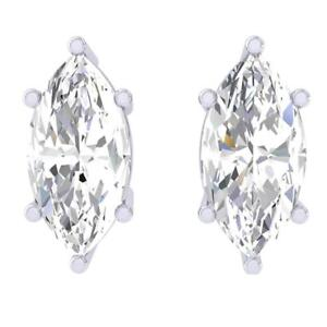Summer Sale 3.00 Ct Stunning Marquise Shape 925 Sterling Silver Solitaire Studs