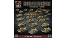 THE BRITISH STARTER FORCE   - FLAMES OF WAR - DESERT RATS SQUADRON - BRAB13