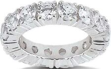 6.74 carat Diamond Eternity Ring 14k Gold Wedding Band Size 7, 15 x 0.45 ct each