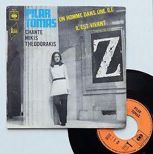 """Vinyle 45T Pilar Tomas - Mikis Theodorakis  """"Un homme dans une ile - Z"""""""