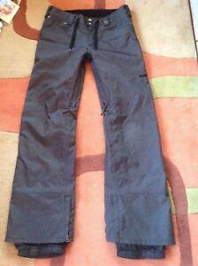 BURTON denim Jeans snowboard or ski insulated PANTS  medium men's