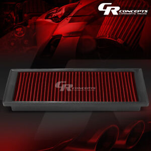 RED WASHABLE HIGH FLOW AIR FILTER FOR 09-17 VOLKSWAGEN PASSAT JETTA TIGUAN I4