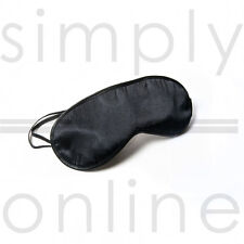 BLACK TRAVEL EYE MASK MASKS SLEEP SLEEPING RELAXING BLINDFOLD EYEMASK