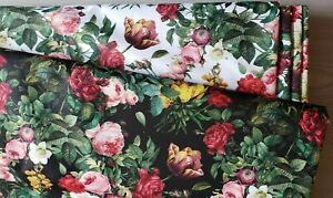 Roses Floral Pattern Waterproof fabric Water Resistant Fabric Outdoor Cushion