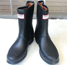 Rare Hunter Limited Rag & Bone Black Low Zipper Rain Boots US6 EU37 Gummistiefel