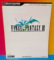 Final Fantasy III Advance Official Strategy Guide Book Game Boy Advance GBA Rare