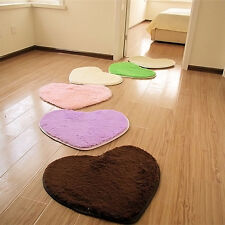 Heart Mat Rug Carpet 30X40CM Absorbent Memory Foam Bath Bathroom Floor  New*,fr