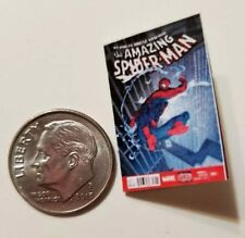 Miniature dollhouse book 1/12  Comic Book Tv show Spider-Man Action Figure Blue