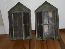 Antique ARTS & Crafts Bungalow MISSION Porch Hanging Light Fixture Sconces RARE