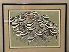 Rare Charley Charles Harper Print Serengeti Spaghetti Signed Framed Print