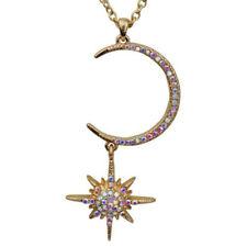 Kirks Folly Twilight Star Galaxy Necklace    goldtone