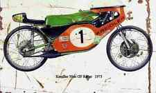 Kreidler 50cc GP Racer 1973 Aged Vintage SIGN A4 Retro