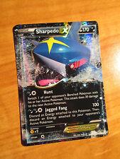 PL Pokemon SHARPEDO EX Card PRIMAL CLASH Set 91/160 XY X and Y Ultra Rare 170 HP