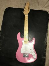 """Kids 30"""" Bc Pink Electric Guitar W/ Strap and Amp cord"""