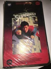 SUPERMAN THE MOVIE VERY RARE VHS CHRISTOPHER REEVE WARNER BLACK CLAMSHELL