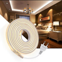 High Bright Waterproof 2835 144LED/m Strip 220V Flexible Tape Rope Light EU Plug