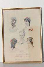 REPRODUCTION ENCADREE SOUS-VERRE - LA MODE ILLUSTREE - COUDOUZE - 37 x 27 cm
