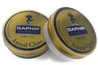 Saphir Amiral High Gloss Wax Polish 50ml - Black and Neutral