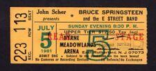 Bruce Springsteen 1981 The River Tour Concert Ticket Stub Meadowlands NJ 07/05