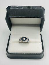 18ct white gold fancy sapphire diamond ring