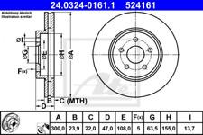 2x Bremsscheibe für Bremsanlage Vorderachse ATE 24.0324-0161.1