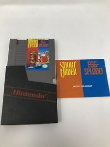 EUC Short Order Egg-Splode! Original Nintendo NES Cart And MANUAL
