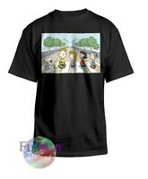 New Peanuts Snoopy Charlie Brown Beatles Abbey Road Crossing T-shirt
