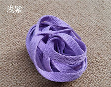 90-180cm Women Men Kids 8mm Wide Flat Sneaker Shoelaces Sport Shoes Laces Whsle