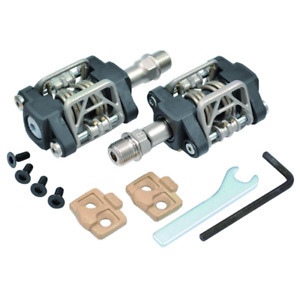 MKS US-B Dual Sided Clipless Pedals & Cleats BLACK Mountain Cross Tour Road
