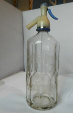 Vintage Prefilled Soda Siphon William Hill and son Grimsby Glass 1950's