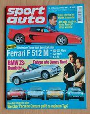 Sport Auto 12/1995 - Ferrari F512 M - BMW Z3 - Porsche Carrera - Citroen ZX 16V