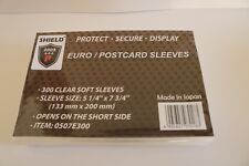 "SHIELD 300 Sleeves 5 1/4"" x 7 3/4"" For Euro FDC / Postcard Sleeves-FREE SHIPPING"
