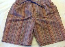 PAUL SMITH JUNIOR Short Swim Trunk Colorful Striped Bathing Suit Sz 10 NWT