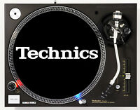 TECHNICS CLASSIC WHITE ON BLACK - DJ SLIPMAT 1200's or any turntable record