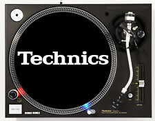 TECHNICS CLASSIC WHITE ON BLACK - DJ SLIPMATS (1 PAIR) 1200's or any turntable