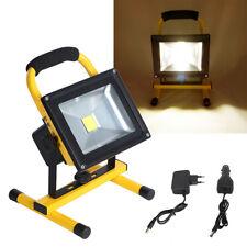 20W LED Strahler IP65 Akku Fluter Arbeitsleuchte Handlampe Baustrahler Warm Gelb